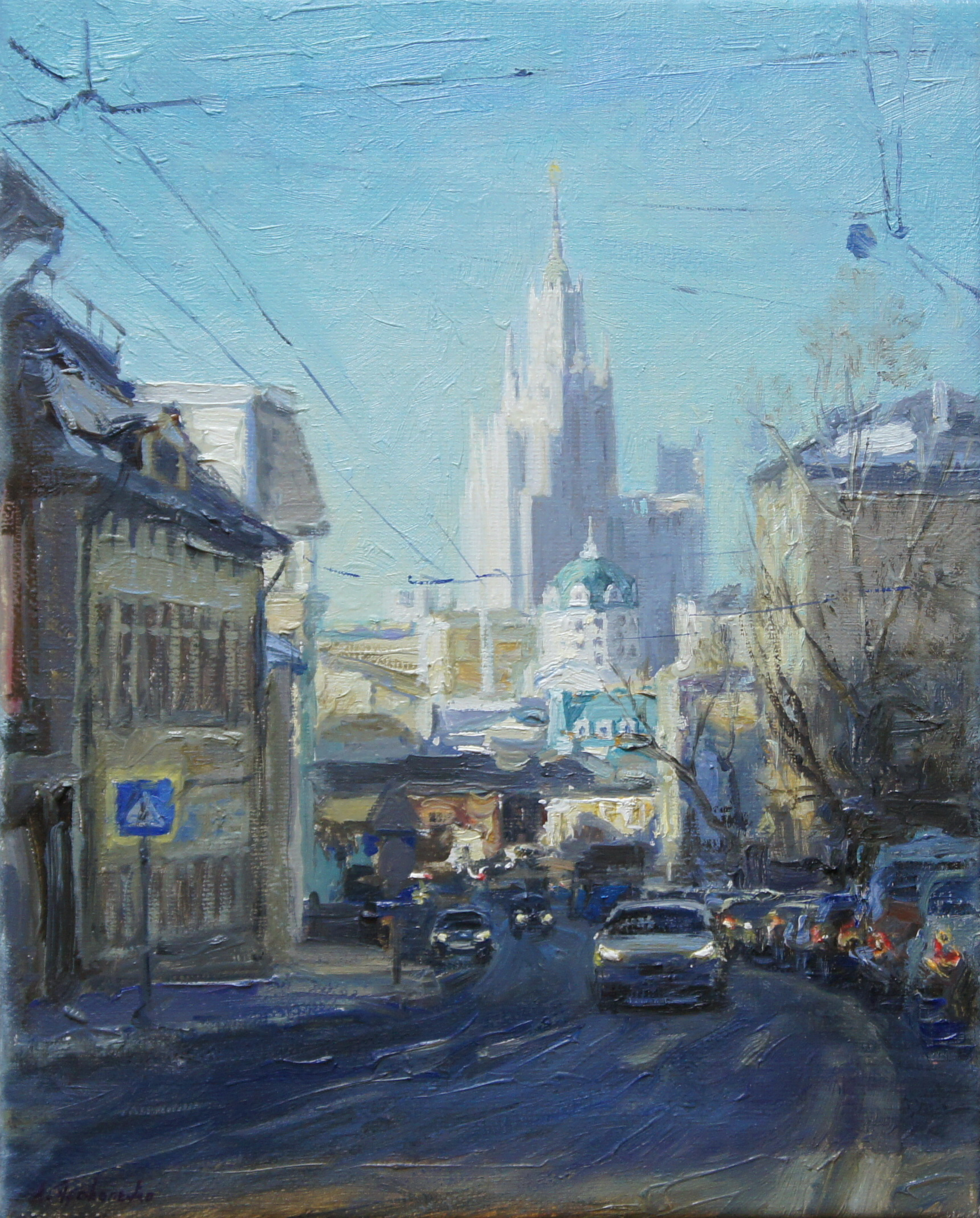 ,,Николоямская улица,, х.м 30х24 2015г.