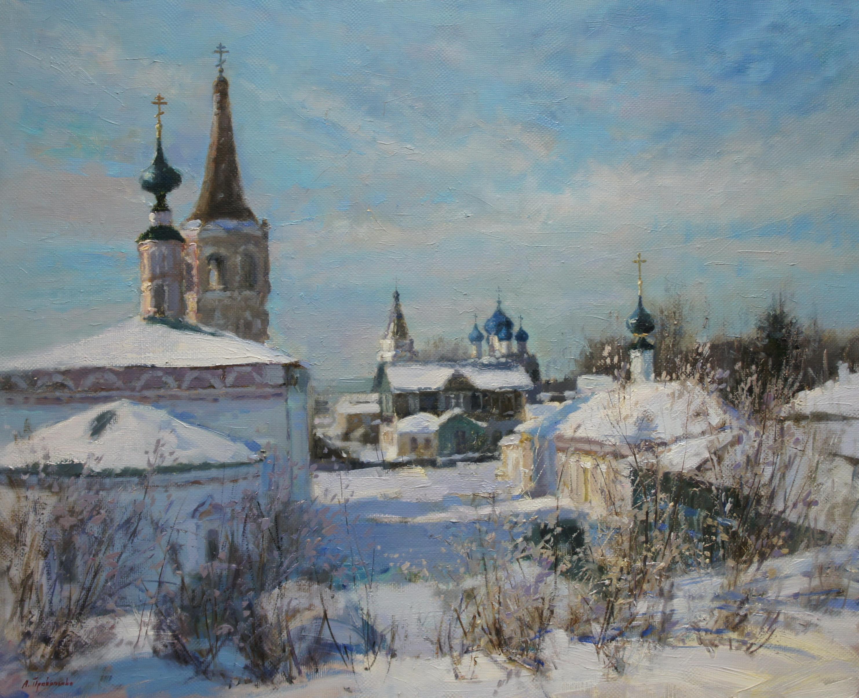 ,,Зима в Суздале,,  х.м 65х80 2018г.