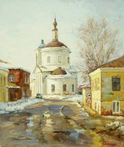 Вид на Спасо-Преображенскую Церковь х.м 30х35 2011г.