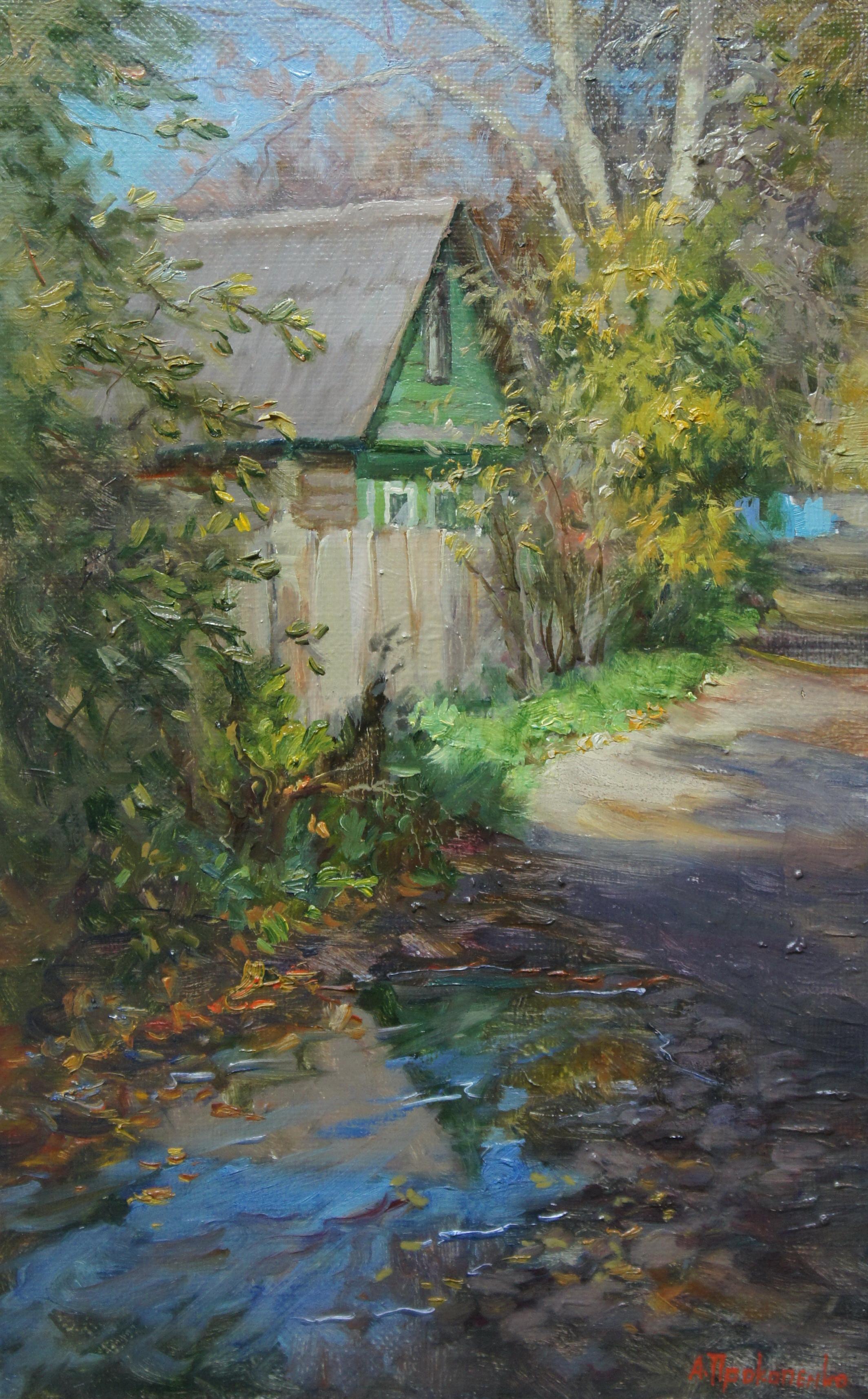Осенний домик х.м25х40 2011г.