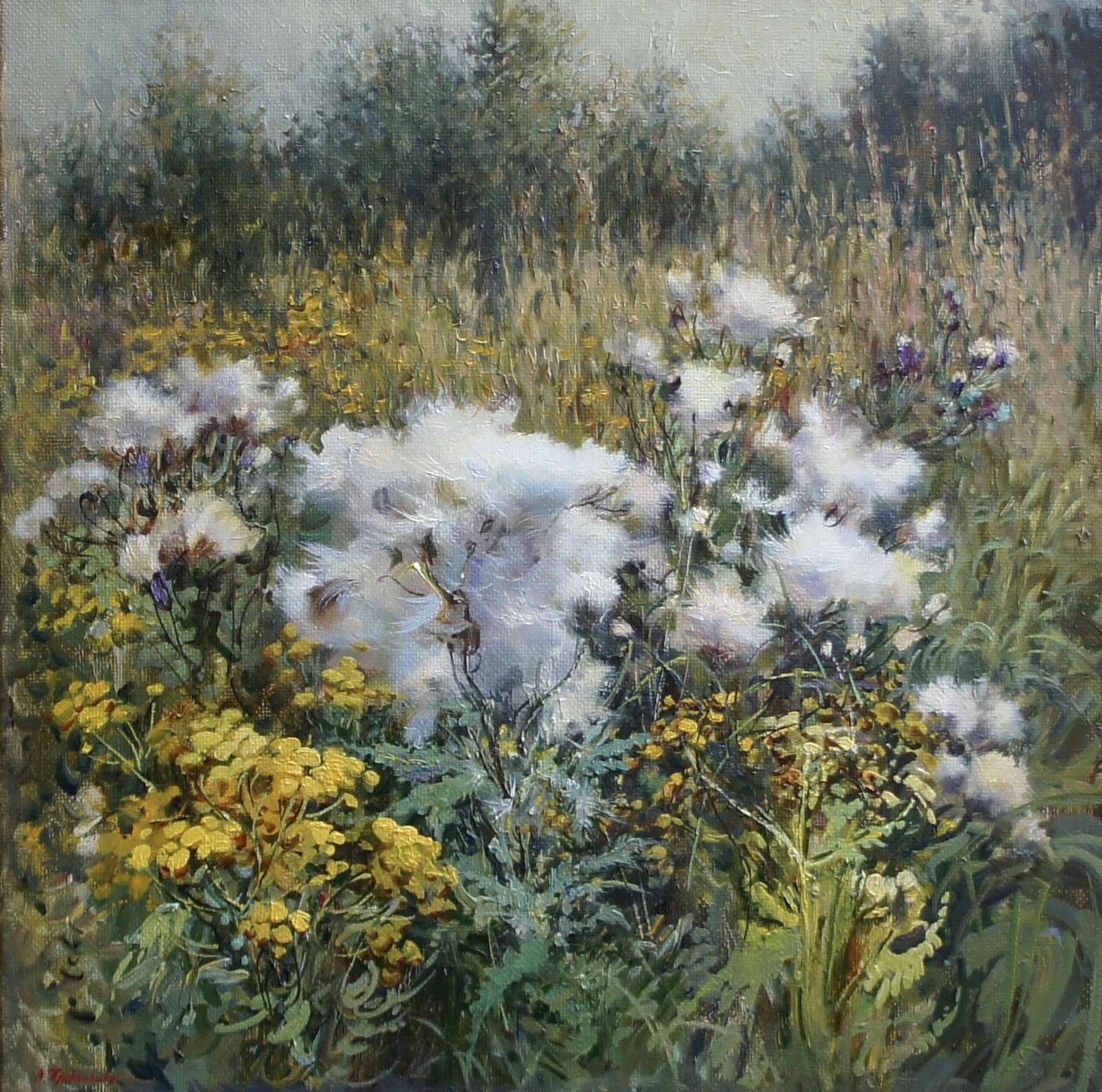 ,,Букет летних трав,, х.м 45х45 2020г