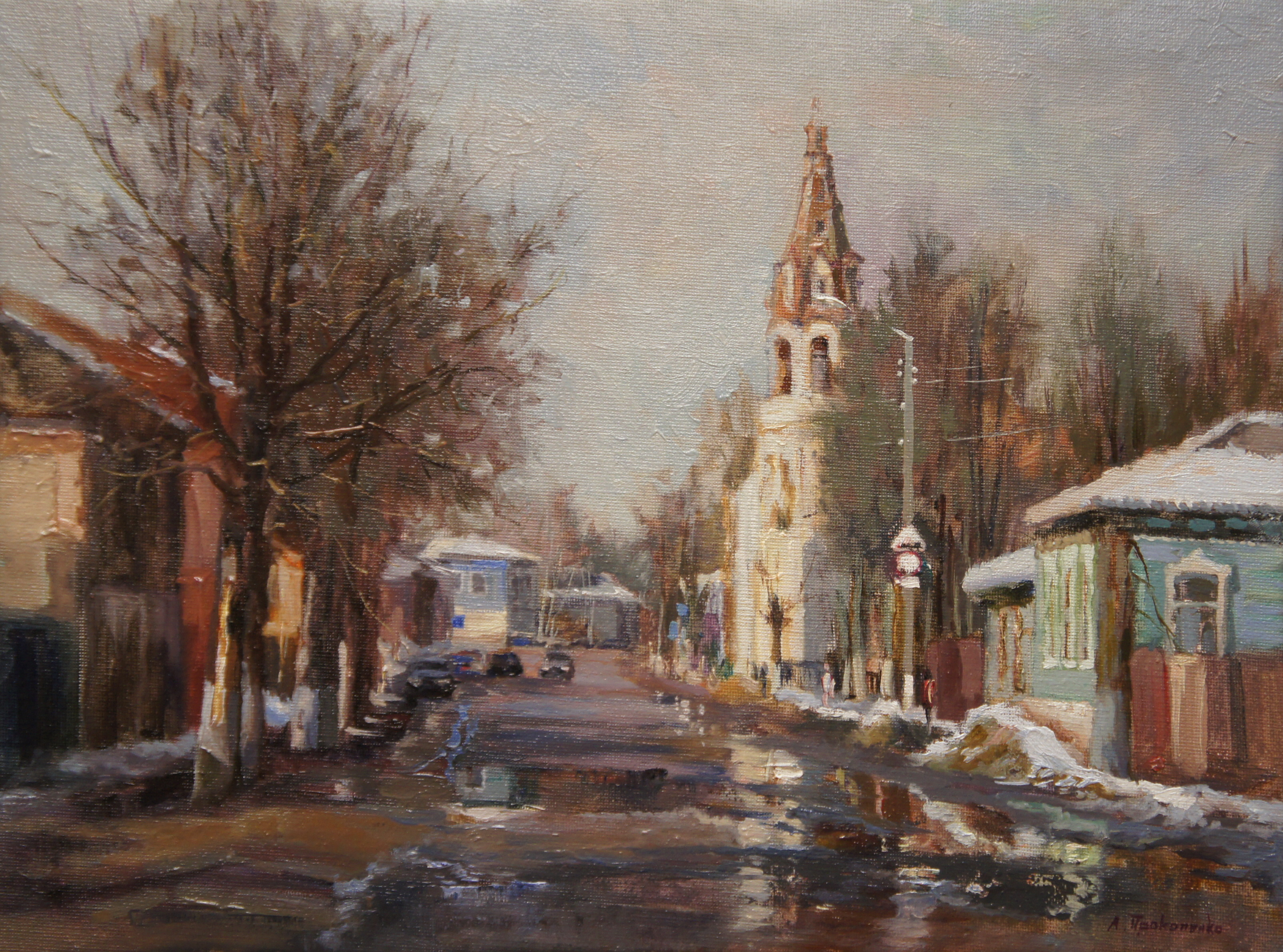 ,,Улица в Боровске,, х.м30х40 2014г.