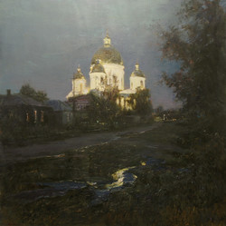 ,,Свято-Троицкий собор в Моршанске,, х.м 100х100 2016г.
