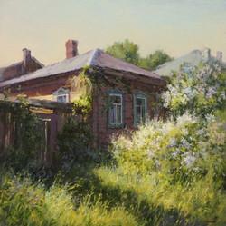 ,,Старый дом в Тарусе,, х.м 70х70 2016г.