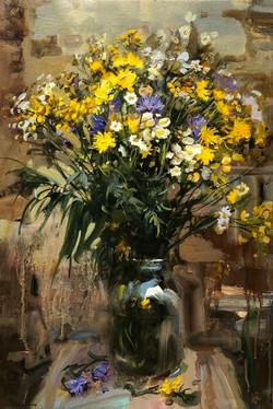 ,,Полевые цветы,, х.м 60х40  2020г