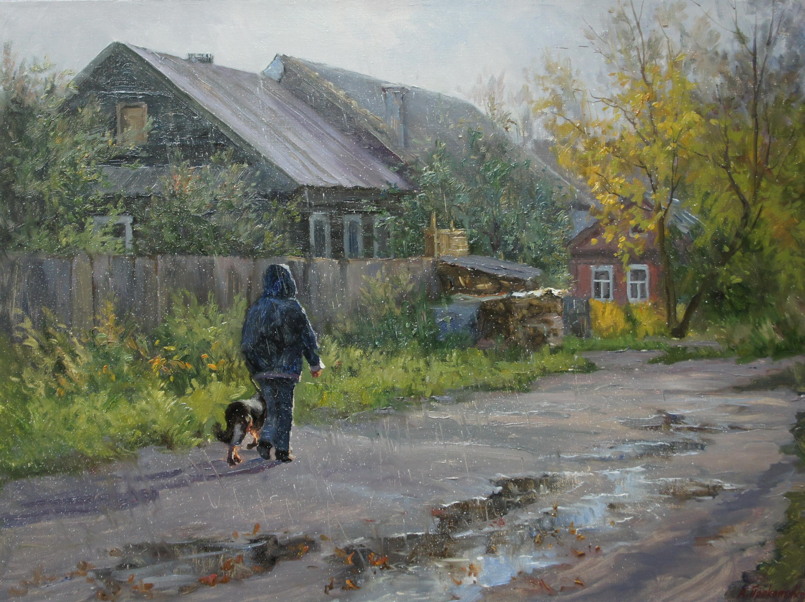 Грибной дождь х.м 45х60 2011г