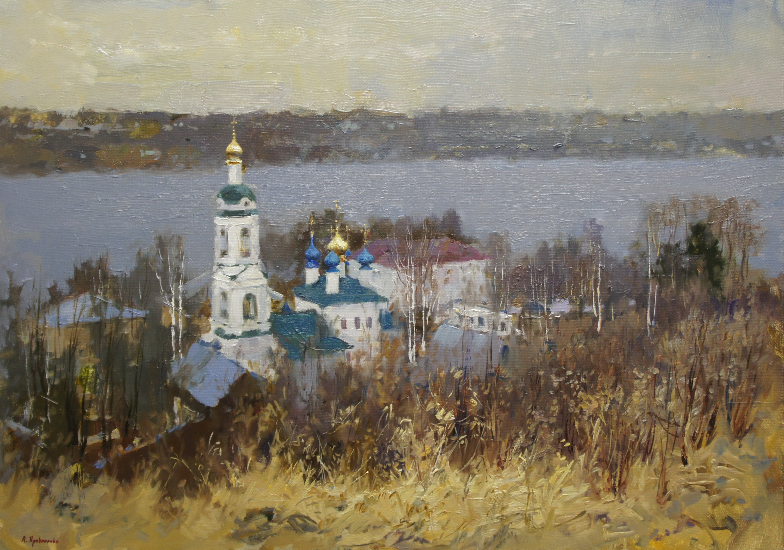 ,,Весенний Плёс,,  х.м 50х70 2018г.