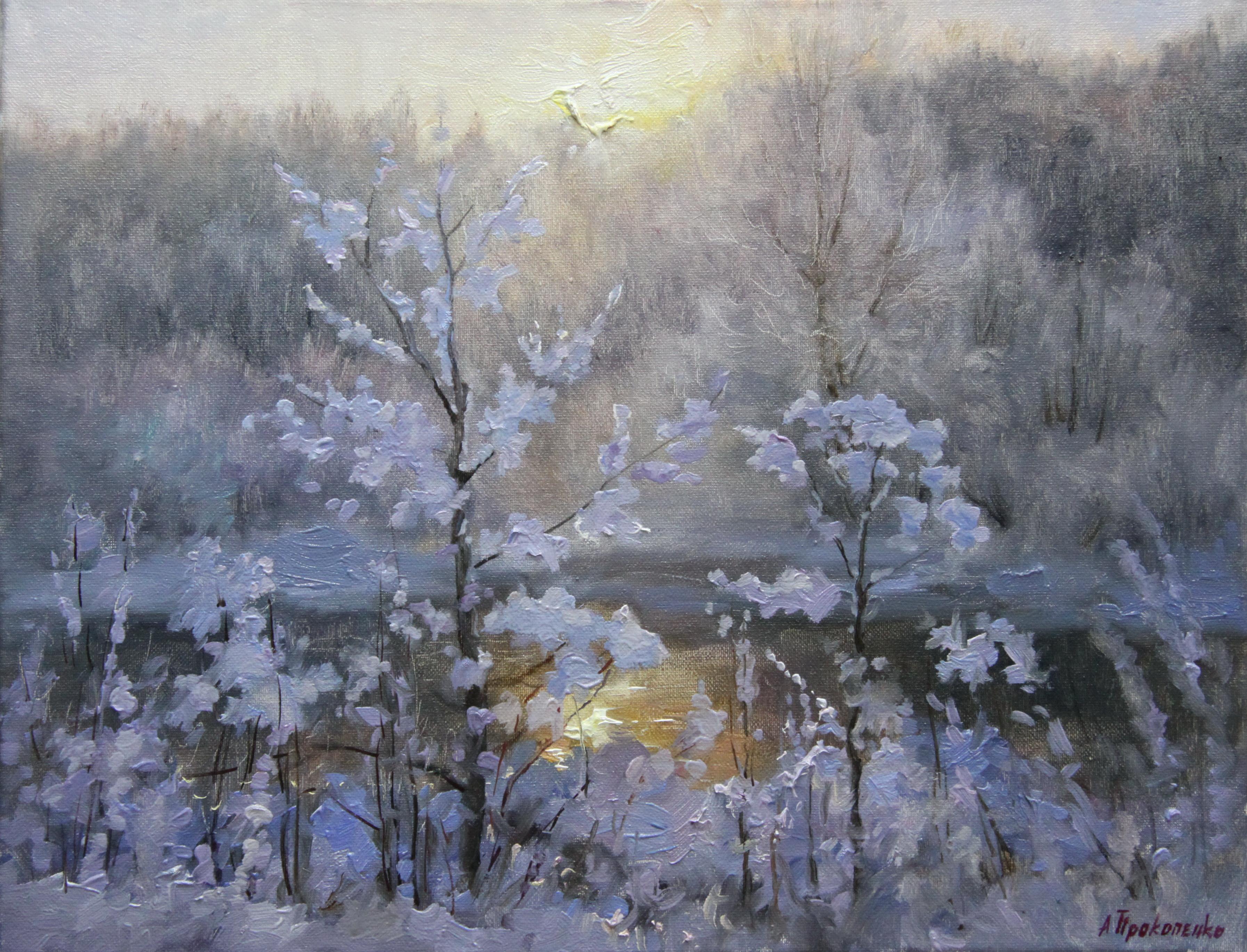 Зимний рассвет х.м 40х50 2010г.