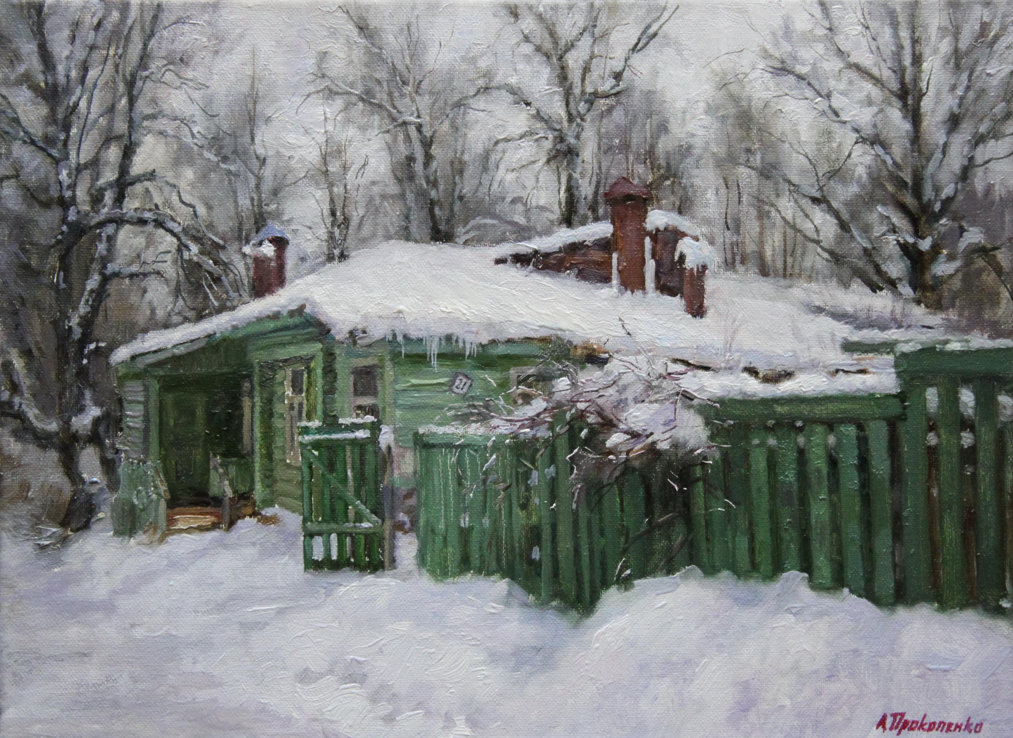Домик в Звенигороде х.м 30х40 2010г.