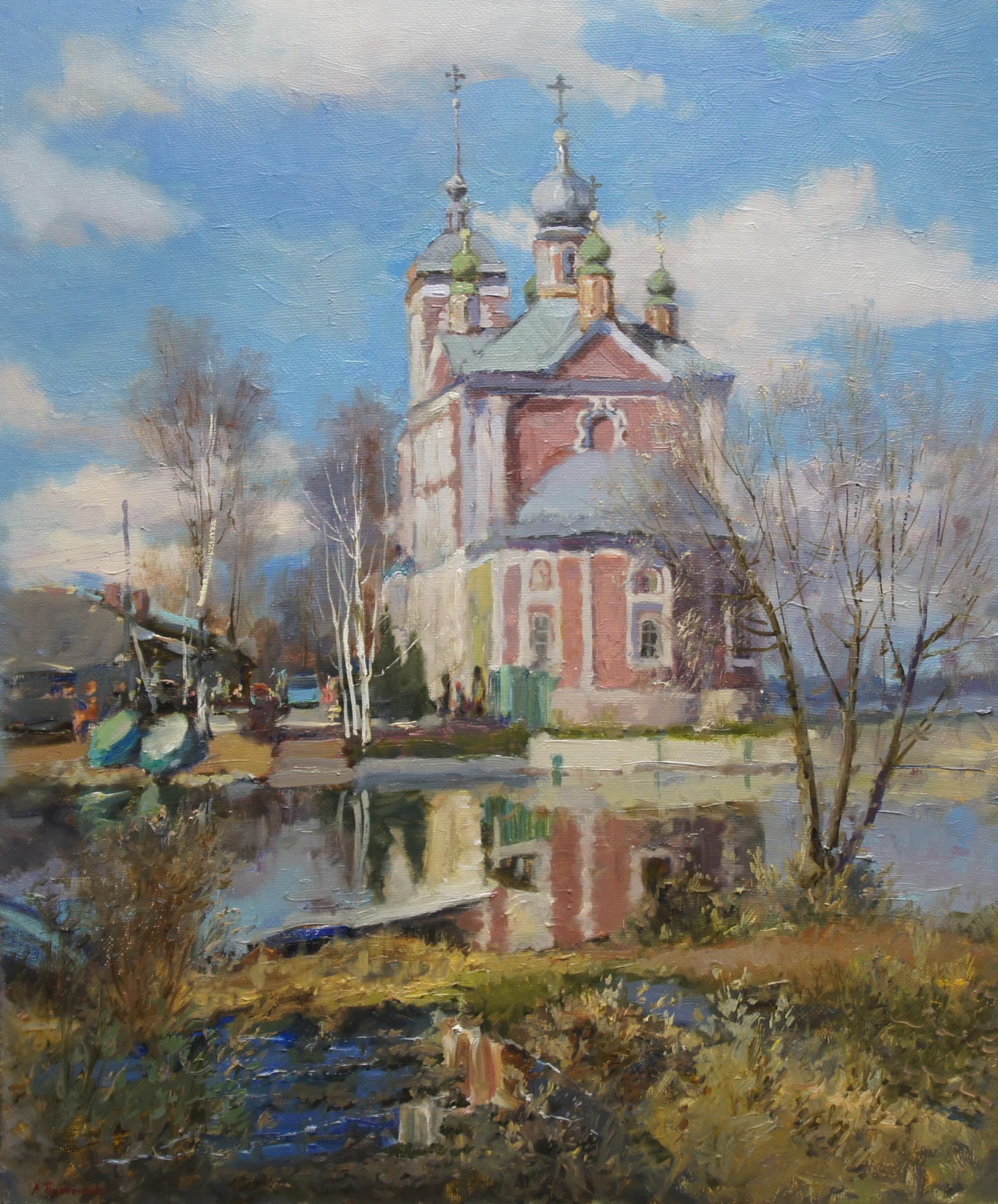 ,,Церковь Сорока мучеников в Переславле Залесском,, х.м 50х60 2018г.