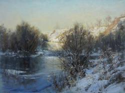 ,,Зимняя речка,, х.м 45х60 2016г.