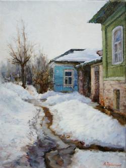 Весенняя проталина х.м 30х40 2011г.