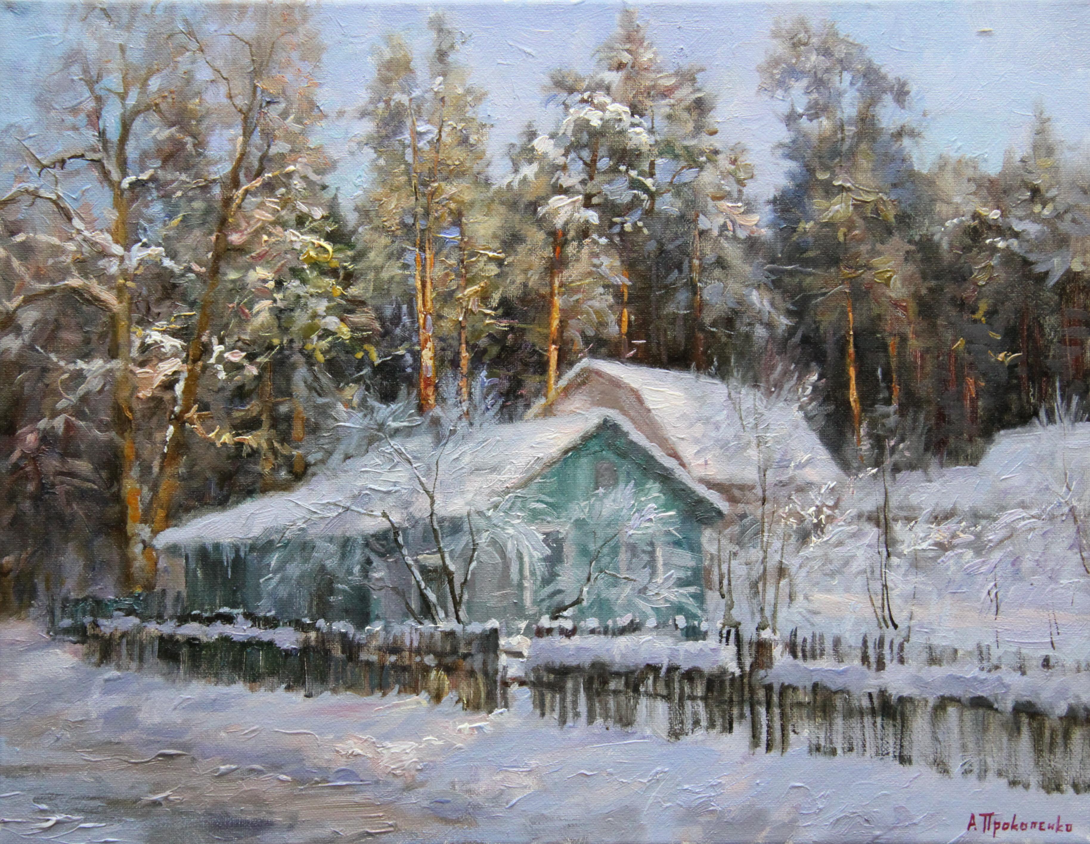 Снежные дачи х.м 40х50 2010г.