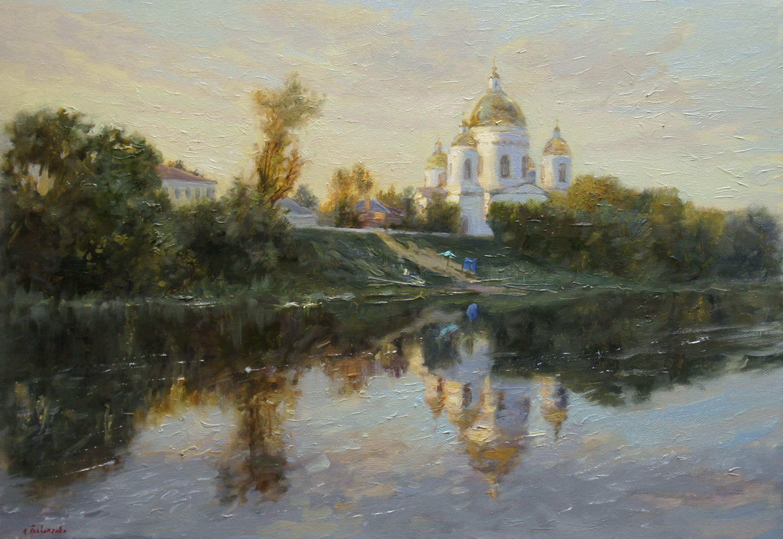 ,,На цне. Моршанск,, х.м 35х50 2016г.