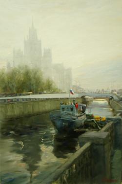 Набережная реки Яузы х.м40х60 2011г.