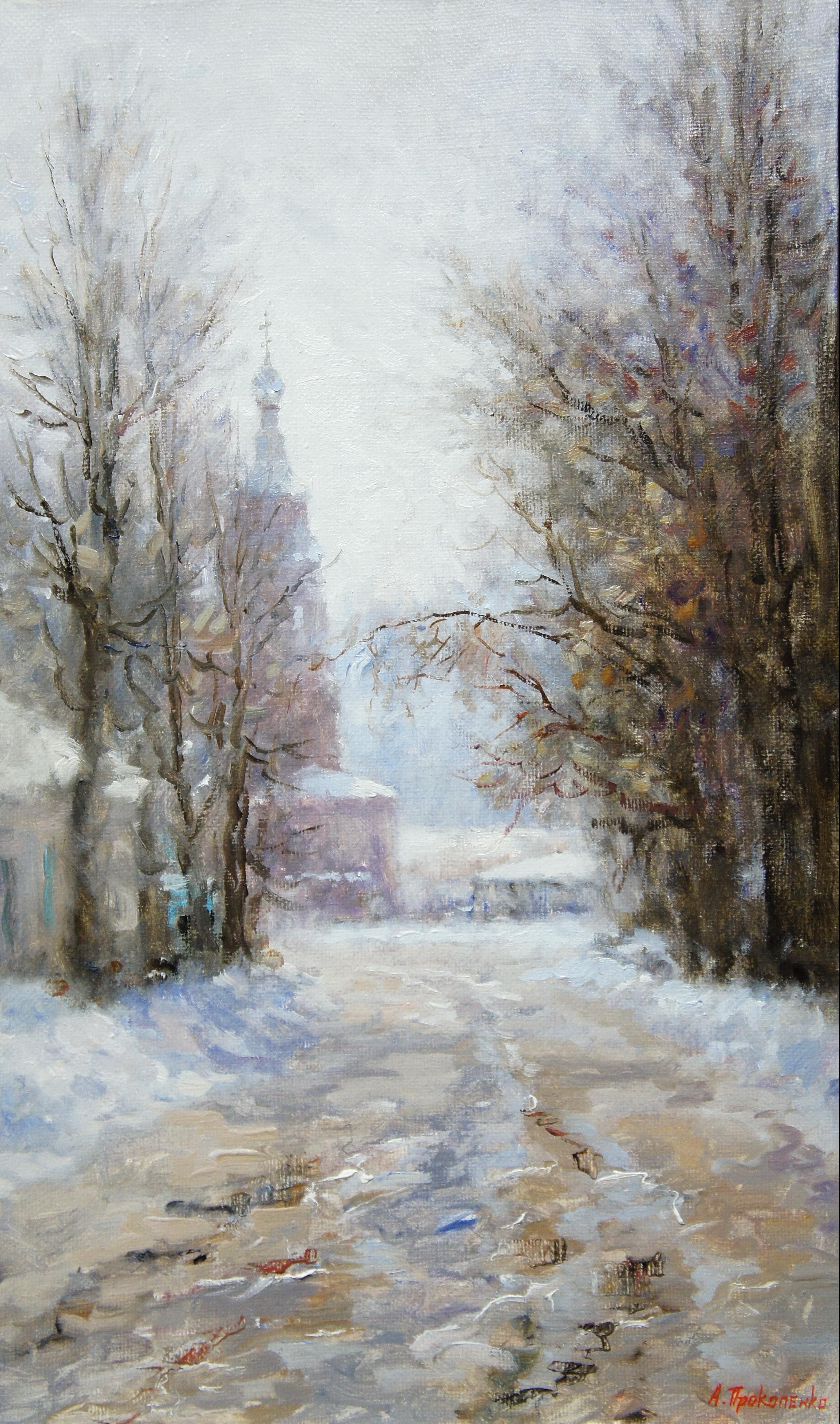 Вид на церковь Покрова х.м 30х50 2011г.