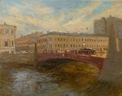 ,,Красный мост. Санкт-Питербург,, х