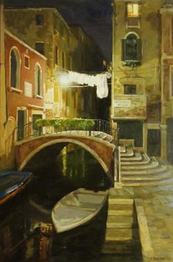 ,,Ночной канал Венеции,, х.м 40х60 2013г.
