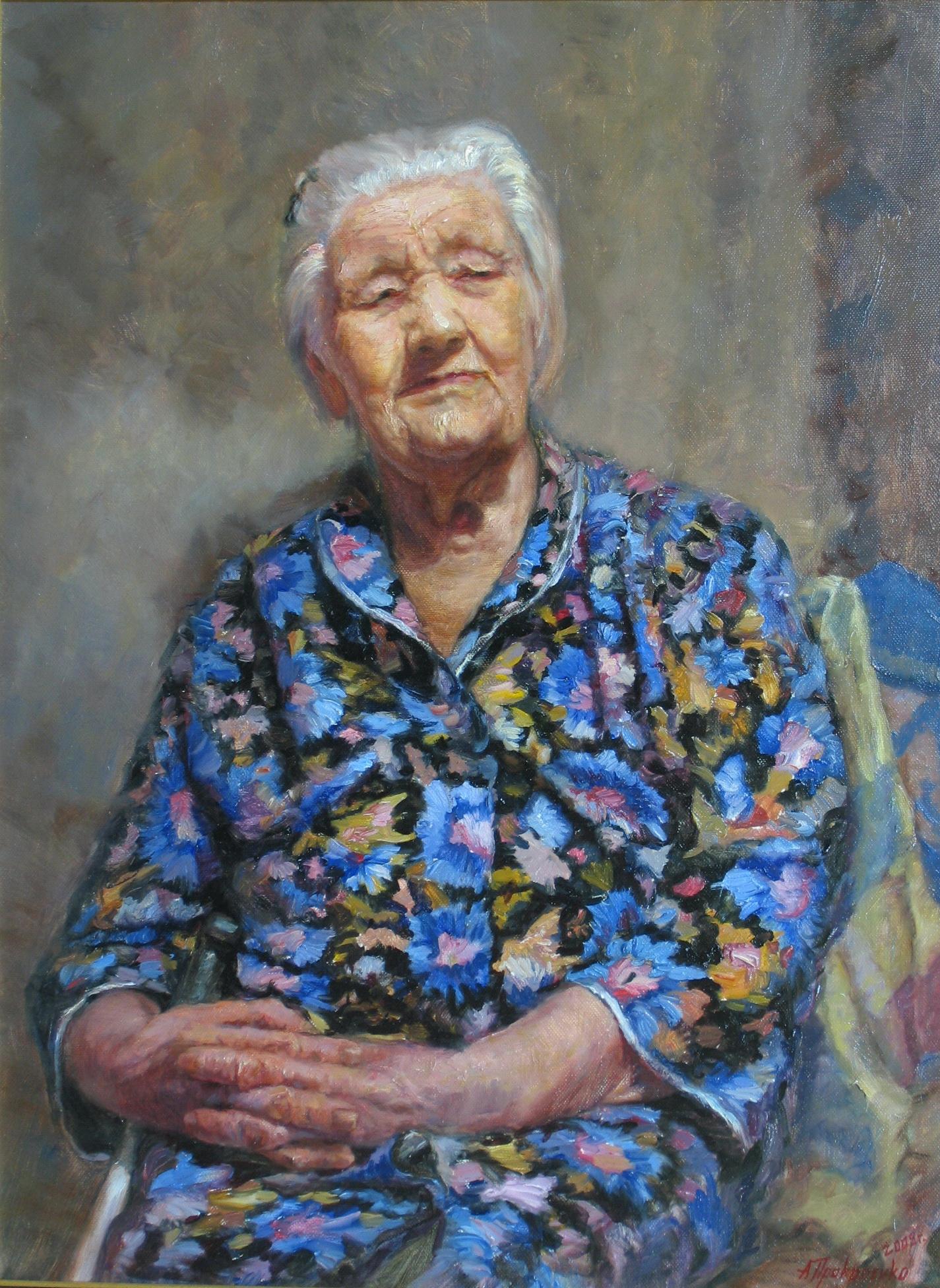Моя бабушка х.м 60х80 2009г.