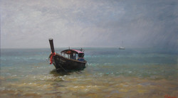 ,,Тайская лодочка,, х.м 40х70 2011г.