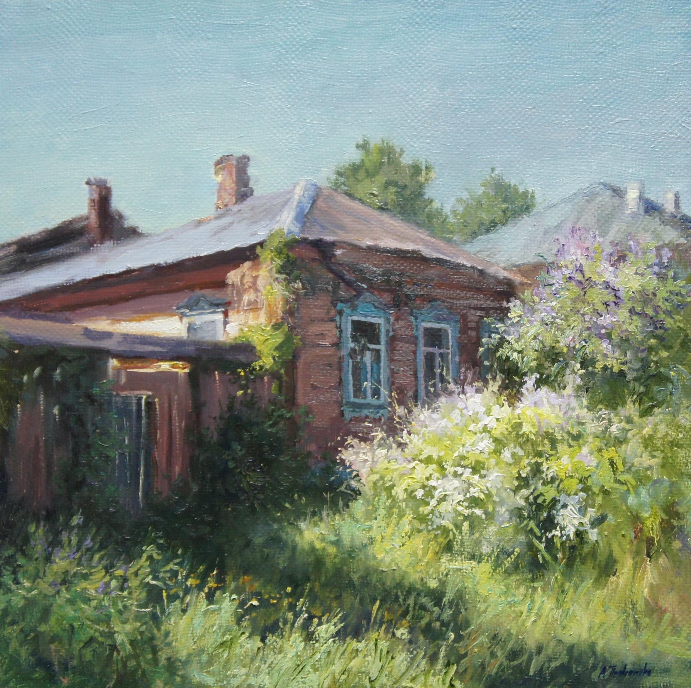 ,,Старый дом в Тарусе,, х.м 40х40 2015г.