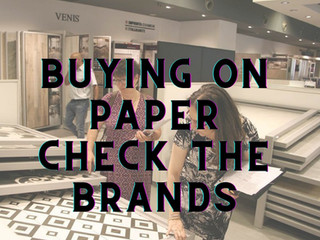 Buying on paper | Check the brands