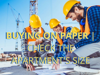 Buying on paper | Check the apartment's size