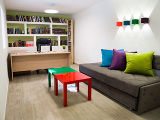 A colorful and cheerful transformation of a basement in Jerusalem