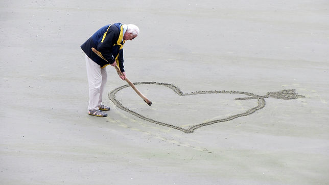 elderly man with love