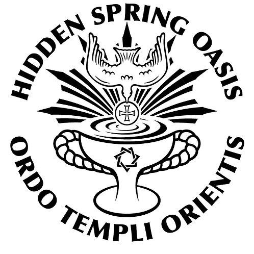 Hidden Spring Oasis Round Stickers