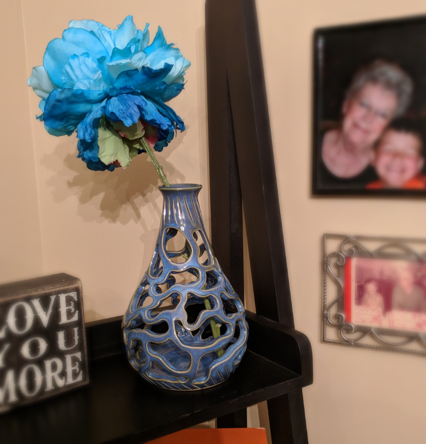 Pierced Teardrop Vase