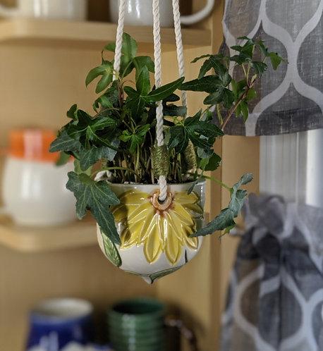 Carved Flower Hanging Basket
