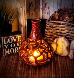 Pierced Luminary Vase