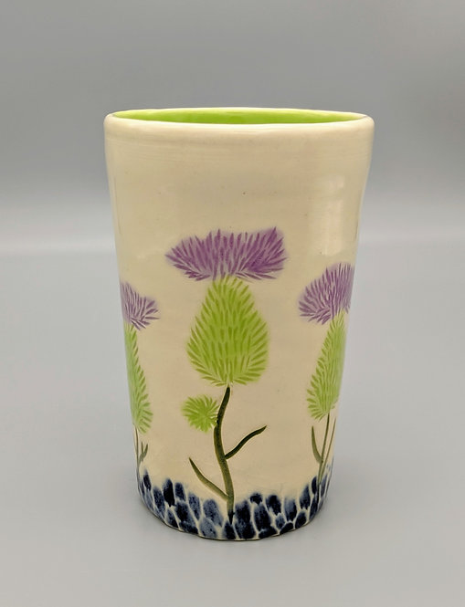 Thistle Tumbler in Apple Green
