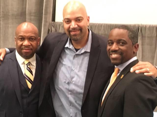 L: Antwayne Ford (Enlightened, Inc.), Bo Menkiti, (The Menkiti Group) and Andre Rogers (Enlightened, Inc.)