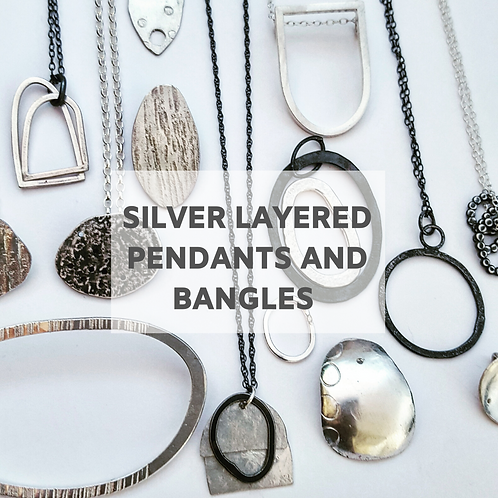 Layered Silver Pendants  - 24th April