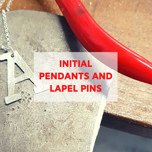 Initial Pendants & Lapel Pins - 27th November Afternoon