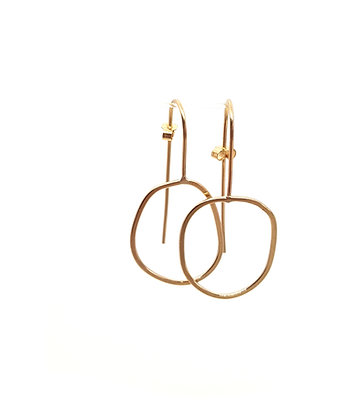 Irregular Hoop Earring In Gold