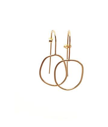 Irregular Hoop Earring In Gold