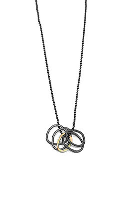 Silver & Gold Small Loops Pendant