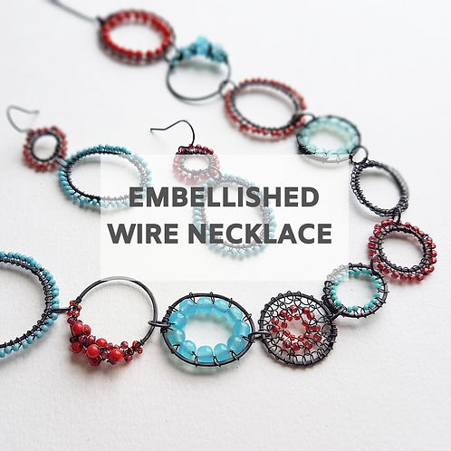 Embellished Wire Necklace 6th March