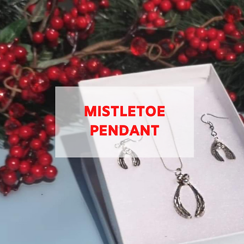 Silver Clay Mistletoe Pendant - 6th December