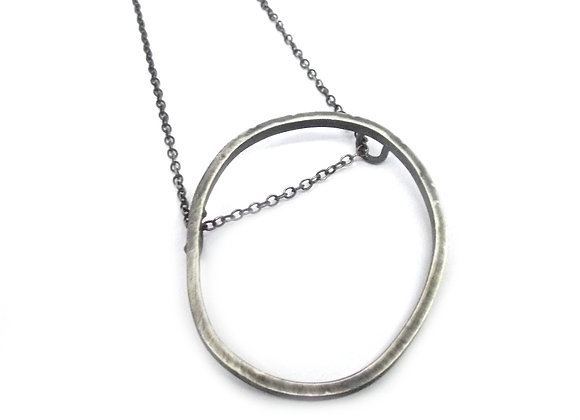 Long Irregular Hoop Pendant