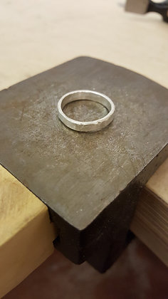 Simple Hammered Ring - 13th December Afternoon
