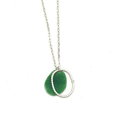 Grass Green Oval Pendant