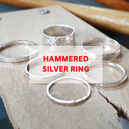 Hammered Silver Ring - 13th December afternoon