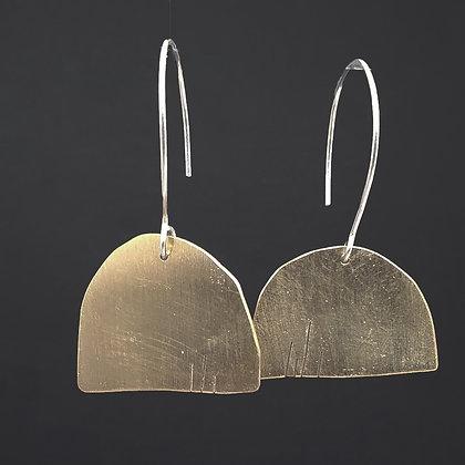 Dash  Brass Earrings