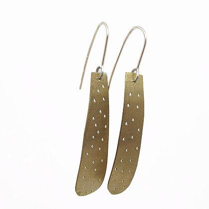 Speck Long Brass Earrings