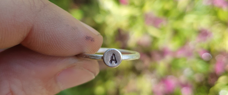 outdoor monograph ring