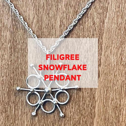 Filigree Snowflake Pendant - 4th December